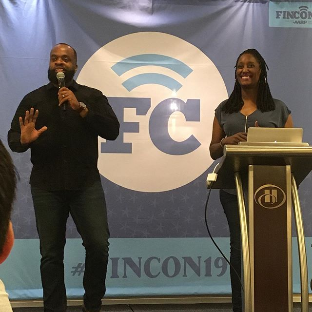 Tai and Talaat @hisandhermoney in here dropping knowledge!! You can't feed yourself with likes, hearts, and thumbs up! #popularandprofitable #fincon19 #youtuber #moneynerds #savvybusinessowner #knowyourworth #makeithappen #womeninbusiness #podcaster #youtuber #blogger #influencer #frugalchiclife