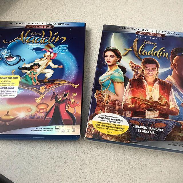 Merci @disneystudioscanada pour ces copies #bluray des films @disneyaladdin #robinwilliams #willsmith
