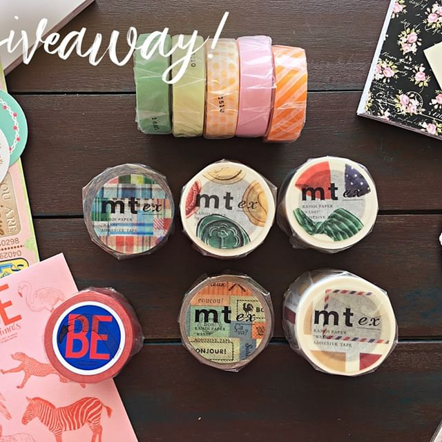 I'm doing a craft supplies giveaway including the washi tapes above! There are 10 MT washi tapes: basic, wide and vintage, as well as a beautiful flamingo washi tape which comes with coordinating stickers!⁠ There are paper pads, stickers and so much more in this giveaway :D For the details, check the giveaway video on my YouTube channel🎥⁠ It is opened international and I'll be drawing a winner this Saturday.⁠ The link is in my bio✨ ⁠ .⁠ .⁠ .⁠ #giveaway #craftsupplies #journalingpack #washitapes