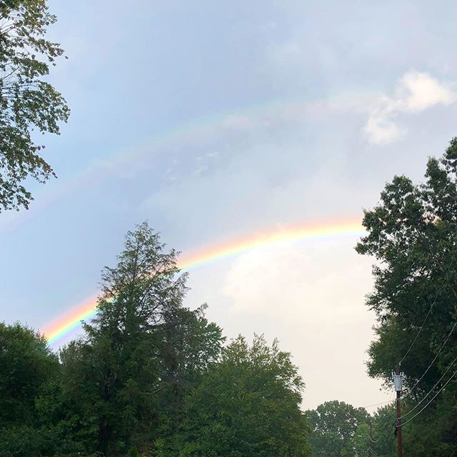 Beautiful 🌈 #avonct #ctweather #rainbow