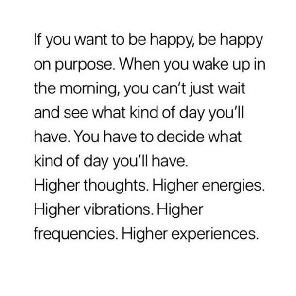 Be intentional with your day today!⠀ #VibeHigh