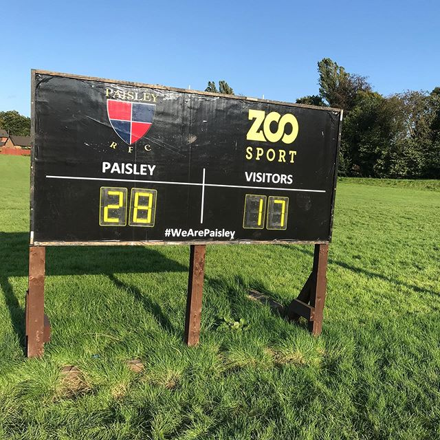 First league game of the season and a nice little 28-17 win! 100% record! Great effort from all the team! Proud to be club captain!  #wearepaisley #rugby #win #team #paisley