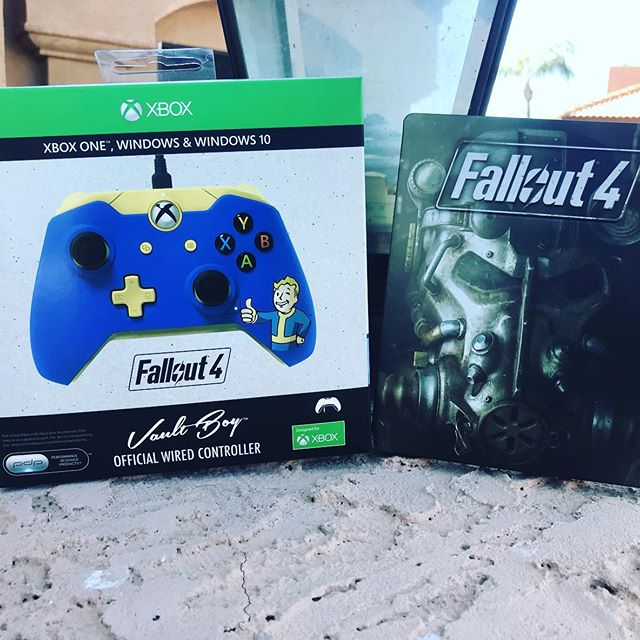 Fallout 4 Bethesda store exclusive Xbox one controller. There were 5040 of them made.  And only available through the Bathesda website.Absolutely love this controller! #xbox #xbox1 #xboxone #xboxonex #xboxonecontroller #xboxonecontrollers #fallout #fallout4 #vaultboy #videogames #videogamecollector #videogamecollection #xboxlive #instagamer #gamer #steelbook #xboxcontroller #xboxonecontrollercollection