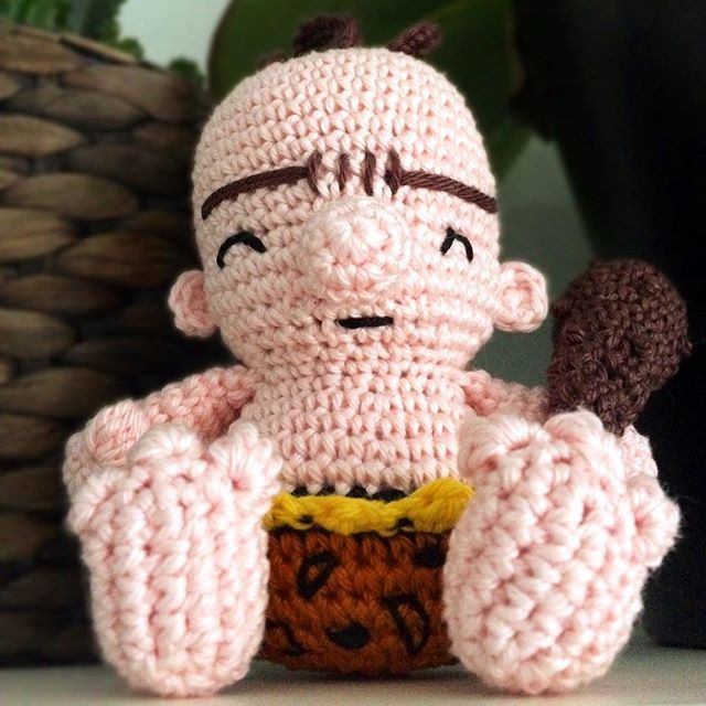 Ross the Neanderthal Boy has been officially accepted as my contest entry 🤩! It is up against pretty cute amigurumis! 😍 . . . #crochetaddict #lovecrochet #crochetlove #vegancrochet