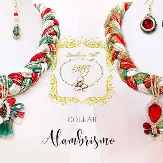 Iniciando el mes patrio 🎉✨🇮🇹🥰 con unos lindos accesorios y collares mexicanos ✨🎉🎊💚 #mexico #aacesoriomexicano