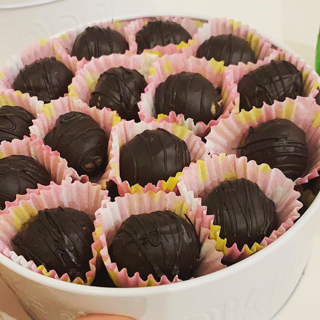 Dark chocolate peanut butter  Size large 55-60 pcs#vegan#keto#diet#power#food#power#bombs#