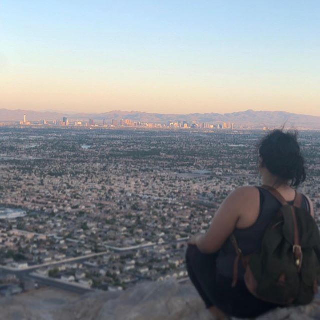 Hike more. 🏔  Worry less! 👌🏽 First good hike in a while, with great company, and nice view of our city.  Can't wait for the next one!  Where to next? 🏔💚 . . . . : : :  #outdoors #live #nevada #nature #optoutside #womenwhohike #explore #hikingadventures #love #hikelife #adventure  #travelnevada #LiveForAdventure #takeahike #fossil