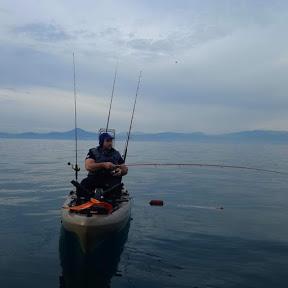 Spiros kardianos kayak fishing