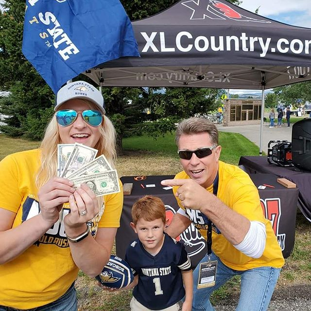 Come win $107 in cash at our Bobcat Tailgate across from stadium ticket booth! Go Cats! #bozeman #montana #xlcountry #Bobcats #MontanaState #football #footballseason
