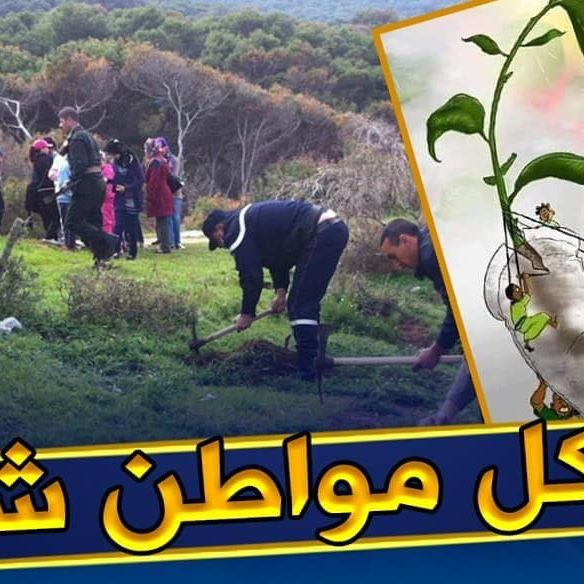 الميراث الأخضر .. حملة وطنية تدعو لغرس 40 مليون شجرة في البلاد . وجاءت هذه المبادرة بعد الحرائق التي ماتزال تشهدها الجزائر منذ دخول فصل الصيف والتي أضرت بالغطاء النباتي والغابات للبلاد. هذه الحملة التي أطلق عليها إسم #الميراث_الأخضر، لقت صدى واسعا عبر مواقع التواصل الإجتماعي خصوصا الفايسبوك. تجدر الإشارة أن هناك دول عديدة أطلقت مثل هكذا مبادرات ونجحت فيها وأخرى إنطلقت فيها على غرار الهند وإثيوبيا وقد حطمت الهند الأرقام القياسية العالمية في غرس الأشجار حيث قام 800 ألف هندي بزراعة 50 مليون شجرة خلال 24 ساعة فقط !. . مبادرة رائعة تستحق الدعم ب#رطاجي