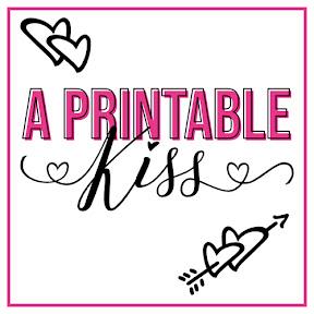 A Printable Kiss