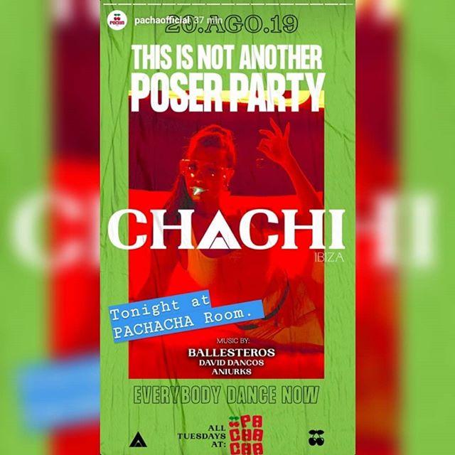 No olvides pasarte esta noche por @chachiibiza en @pachaofficial 🍒✌✌@weruleibiza