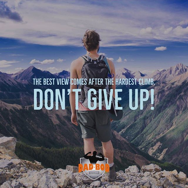 Don't give up. Sounds easy, right? It's probably the hardest thing you will ever do. The temptation is strong - whatever your demon is - food, porn, co-dependency, depression, self loathing. Getting to the other side is a struggle. But a struggle that is well worth it. Every day is a new fight…a new battle…toward winning the war. I have my demons. I fight them everyday. Every Single Day! But I have reminders all around me of why I am here. How my mission is huge. How living my life's purpose and passion will actually save lives. I am surrounding myself with greatness... People that inspire me... That push me (and pull me when necessary)... Building my tribe! I'm not giving up. It isn't an option! #dadbodwarrior #dadlife #lifeafterdivorce #divorceddad