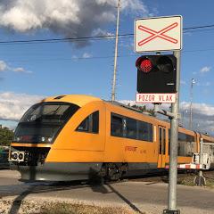 Beliho vlaky - Slovak Railroad crossing