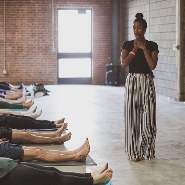 I go so hard at telling y'all to find your voice (your power) because I too am forever finding mine. It is a muscle you MUST work. With compassion say exactly what you mean, and mean what you say. All the anxiety you have behind the reaction is UNNECESSARY. Let it go.  Restorative cannabis yoga class tonight at @bluedreamoakland 6pm $15. 🙏🏾💨 . . . . #cannabis #yoga #poofculture #wellness #selfcare #speakup #mouthgamestrong #asmymomwouldsaydontgetpunked 📸 @full.spectrum.creative