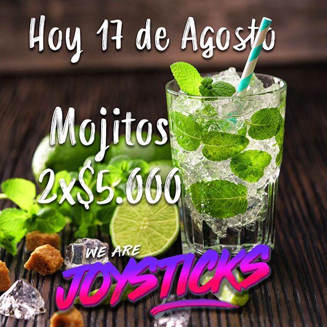 Hoy, desde las 18:00hrs, mojitos 2x$5.000!! Ven a disfrutar tu noche de sábado con nosotros!  #joysticksgamebar #mojitos #instalaserena #gamebar