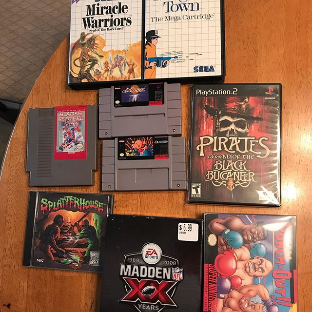 My Game On Expo 2019 haul! Love coming to this event ever since the first show out on by @gamester81 ! Trying to get my Master System and TurboGraphx collection up. Great deals also. Super excited for Splatterhouse complete for Turbo Graphix. Also got the label variant for Blades of Steel ! And some protectors for my Wii U boxes as well as my Diablo Switch console box! #gamers#gamer#instagamer#videogame#videogames#retrovideogames#nintendo#supernintendo #turbographx #sega #segamastersystem #xbox #xbox360 #videogamecollector #videogamecollection #gameonexpo2019 #gameonexpo #retrogaming #retro #videogameaddict #retrogamer #retrogameroom #retrogamers #nintendoswitch #sonyplaystation