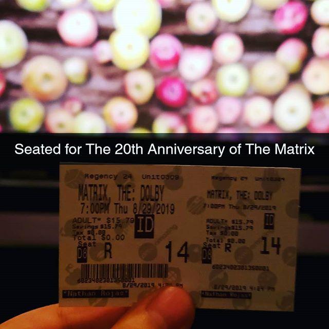 #TheMatrix 20th Anniversary 🤘🏻 #ShareAMC @dolbycinema @amctheatres