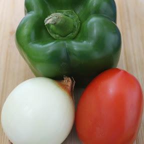 Tomate, Chile y Cebolla.