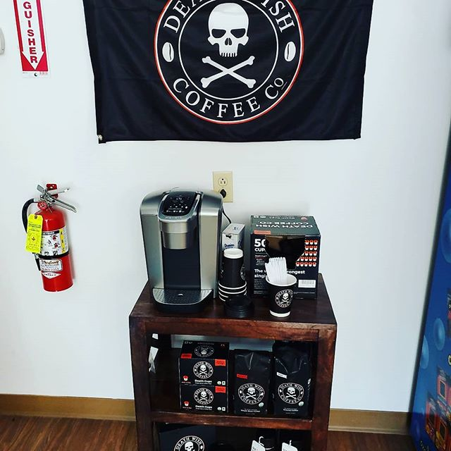 Only the best and strongest coffee gets served at BFR. #deathwishcoffee #coffee #coffee_time #bfrthestore #bensonsfishroom