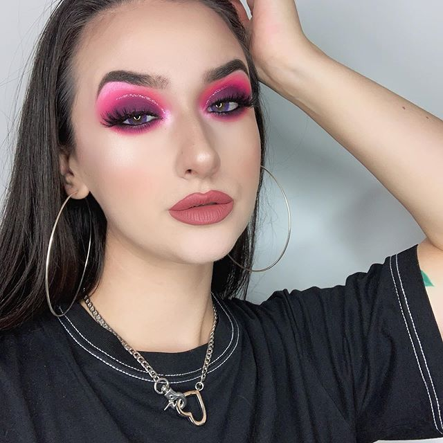 "Did you enjoy my first IG-Tutorial? If you would like to see more let me know what looks you wanna see!  __________________ @beautybaycom x @mmmmitchell me myself and mmmmitchel palette @urbandecaydeutschland Heavy Metal Glitter Liner ""Cat Call""  @ofracosmetics ""Rodeo Drive"" Highlighter  @benefitgermany Precisely my brow 5 @amolashesofficial  @fentybeauty ""Uncuffed"" Stunna Lip Paint  @ttd_eye Purple Donut Lenses  Use code ""jennyferfox"" for $$ off  ___________________________ #makeup #mua #makeupartist #bhcosmetics #bperfect #hudabeauty #purish #topsface #benefit #urbandecay #morphe #morphebabe #jeffreestar #anastasiabeverlyhills #norvina #colourpop #fentybeauty #beautybay #abhprsearch #ofracosmetics #purishlotm #purish #purishlotm"