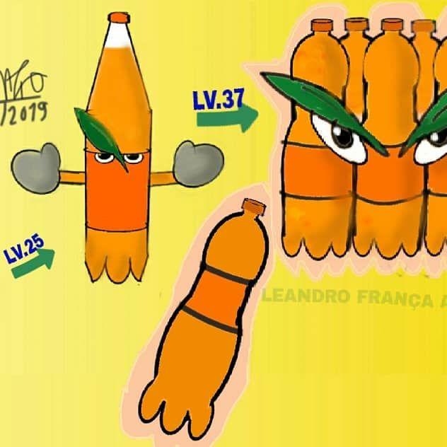 Olá desenhistas e amantes das artes alguém gosta de fanta laranja? ? 😂😂😅 Arte feita para desafio ''SE MARCAS FAMOSAS FOSSEM PERSONAGENS'' do grupo de desenho no whatsapp POKOS NO DESENHO na verdade eu transformei em pokemon a latinha, a garrafa e o fardo de fanta laranja 😂tinha visto no YouTube algo parecido com outras marcas e resolvi fazer para esse desafio e foi muito divertido de fazer e de imaginar o design (Foi feito no digital no app COLOR no celular) Diz como seria o nome desse pokemon? ?  E o tipo dele? ? Bom até a próxima arte LET'S DRAW ✏✏✏ #drawing #desenho #dibujo #ilustração #dessin #ilustration #arte #digital #digitalart #drawapp #colorapp #pokemon #pokemonart #gamefreak #pokemoncompany #pokemoncomunity #fakemon #OC #fanta #oranjefanta #refri #evolutionline #challenge #desafio #group #whatsapp #pokosnodesenho