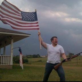 American Flag Shotgun Guy