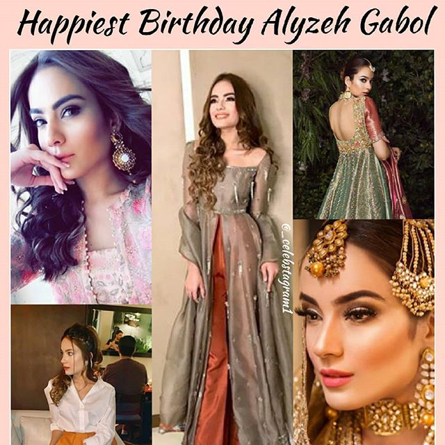 (Alyzeh liked) Happiest Birthday #AlyzehGabol  Wishing you a happy year ahead  @alyzehgabol #celebstagram1