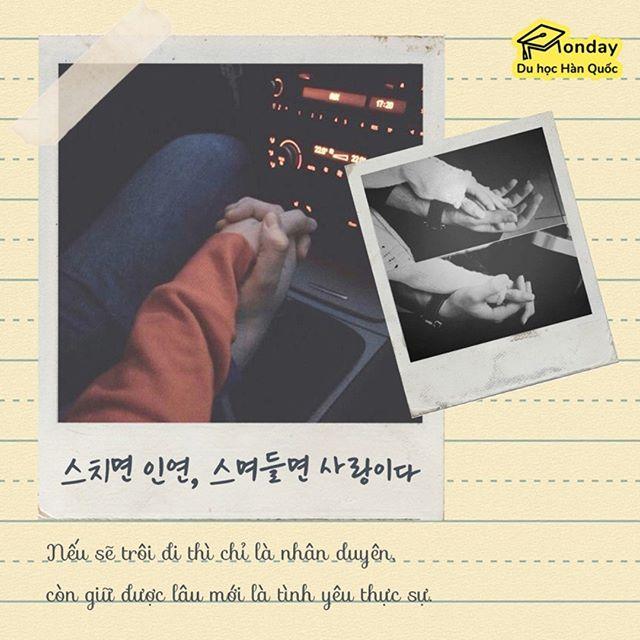 🎗️ 스치면 인연, 스며들면 사랑이다. 🌿 Nếu sẽ trôi đi thì chỉ là nhân duyên, còn giữ được lâu mới là tình yêu thực sự.  #quotes #quotesaboutlife #quoteoftheday #quotesdaily #quoteslover #motivationalquotes #quotestagram #lovequotes #studykorea #studykoreanwithme #studykoreanlanguage #liveandstudyinkorea #howtostudykorean #studyabroadinkorea #duhochanquocmonday #duhocmonday