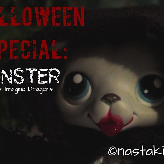 Halloween spessu on tubessa ^^ tätä oli kyl kiva tehä :D #halloween #lps #lpsvideo #imaginedragons #monster #littlestpetshop #nastakissa