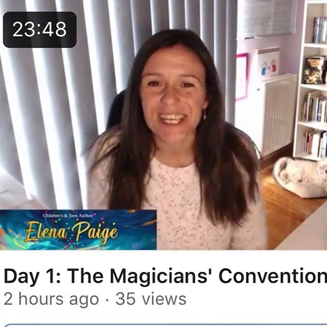 Day 1 of read aloud The Magicians' Convention on Facebook live - read by me the author - went well after a few hitches!  First time around I was muted the whole video lol! But it was a great practice and I was planning to read three chapters, but realized two would be better per session. Then on take 2, my phone and message bank went off, and I had to patiently wait for it to stop! Oh goodness.  Take aways and learnings: - Practice at least once before doing the real thing - Remain calm with glitches or if things go wrong. It's no big deal as it's live after all and life isn't perfect or edited. - I very much read the book as I hear it in my head. I think this made the reading much more dynamic. - I didn't allow my critical mind to have any negative thoughts about the book as I read it, or to pick up errors. This is a reading for fun. No judgment allowed. - I posted it on You Tube too so it will be interesting to see if it gets any views there.  If you tune in and watch it, feel free to give me any feedback. I'm totally up for it. And tomorrow is day 2, and I'm reading chapter 3 and 4. I'm getting really excited thinking about it. Reading my book online like this is more fun than I thought it would be. Wish I had done it sooner!  #readalouds #readaloud #readbytheauthor #middlegradebooks #middlegradefiction #middlegradereads #fantasybooks #fantasybookseries #fantasybooklover #bookstagram #kidstagram #elementaryteacher #librariansofinstagram #bestsellingbook #bookskidslove