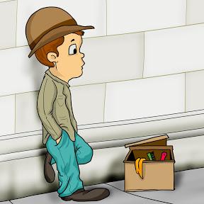 The Shoe Shiner Kid on Wall Street.