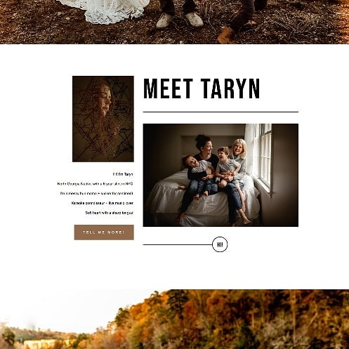 We LOVE how this #squarespace website turned out for @tarynshultzphotos! Taryn combined elements from our Elm & Laurel templates to achieve a truly one-of-a-kind layout 😍. If you're looking for something a little different but still want control over your own website, we've got you covered! ✔️ #squarespacedesign #photographerwebsite #photographywebsite #photographybranding #photographerbranding #squarespacewebsite #websdesign #webdesigner #squarespacedesigner #girlboss #risingtidesociety #grahpicdesigner #bosslady #photographer #professionalphotographer #creativeentrepreneur #bossbabe #bosslady