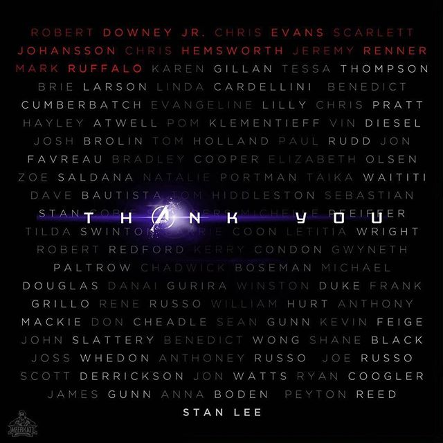 A year after seeing infinity war, here we are. Two different movies, two very different feelings. After 11 years, after 21 films, ENDGAME is the end of an era, the end of a cycle that closes a story that began a long time ago. Thanks for this epic ending that made me laugh and made me cry, that made me suffer and made me hope.  Thanks to @marvelstudios for giving us this incredible adventure, thanks to @kevfeige for making it possible, thanks to @therussobrothers for giving us this amazing movies, thanks to @therealstanlee and all of his cameos... thanks to every single actor and actress for giving life to these impressive characters and thanks to @robertdowneyjr , without you none of this would have been possible. (I love you 3000)💜🖤💜 After this, nothing will ever be the same again. But remember, Part of the journey is THE END.  Credits for the first photo to @meerkatz_cosplay. #theroadtoavengersendgame #thisistheendoftheroad #endgame #avengersendgame #avengers #partofthejourneyistheend #ironman #captainamerica #thor #hulk #hawkeye #blackwidow #laughed #cried #theend #11 #years #21 #movies #onceanavengersalwaysanavengers #avengersassemble #arcreactor #myheart #tonystark #steverogers #buckybarnes #thewintersoldier #loki #spiderman #iloveyou3000