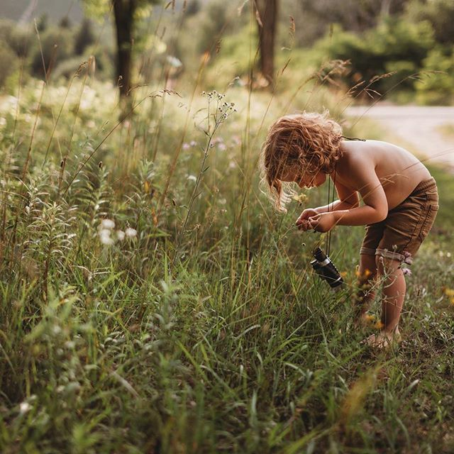 The only reason I'm not ready for summer to be over is because I still have a huge folder sitting on my desktop from our summer vacation, that I haven't touched 🙈 Other than that, Halloween decorations go up Sunday per Hudson's request. I always want him to remember summer time this way though- no shoes, no shirt, exploring, and learning about nature ❤️🌿