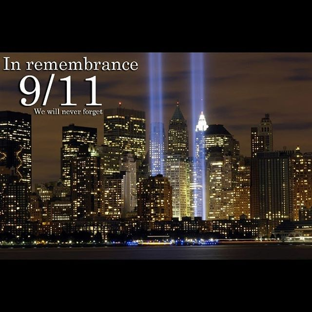 18 years ago today i was in school and didn't know what was happening and later that day we were sent home with a letter of what have happened and have parents watch the news or talk about the tragic event that happened with their kids. So 18 years later we remember those who lost their lives on that tragic day and this day will never be forgotten. #september11th #neverforget
