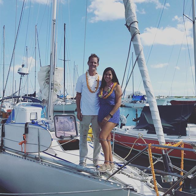 Gone sailing! Aloha!!! 🤙🏼🤙🏼follow my wife and I  @joyous_sam on our adventure! • • • #Sailing #InstaSail #Yacht #sailboat #Adventure #sailnowworklater #Stoked #whooped #Hawaii #honolulu #boatwork #aloha #thankyoulord