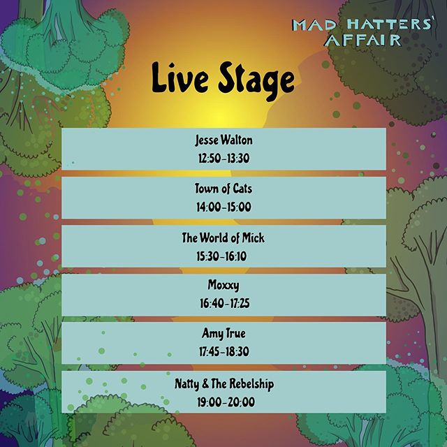 Important announcement .. Sadly we're not playing  @madhattersaffair this weekend. The event has been downsized to  just a one day event on Saturday now ...but please still go and support them and check @nattymusic headlining !