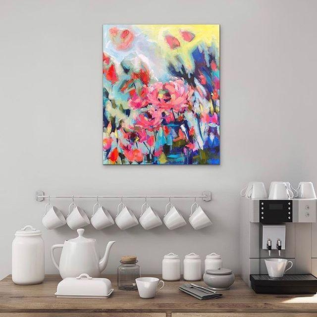 Would you like some beauty with your coffee? ☕️❤️ @jen_shewring via @artroomsapp . . . . . .  #melbourneartist #melbournegallery #australianartist #saatchiartist #bluethumbartist #etsyartist #insitu #art #insituart #artista #artistsoninstagram #artapp #curatorapp #artdisplay #mixedmedia #acrylic #oilpainting #pastel #encaustic