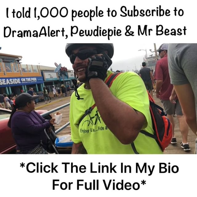I told 1,000 people at the beach to follow @keem5tar @pewdiepie & @mrbeast and Unfollow @tseries.official  #sub2dramaalert @kingericnash