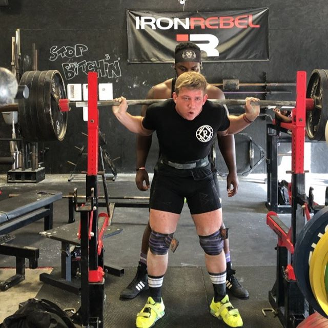 """535lb Squat, a 60lb PR """"When you train with the lame, you develop a limp."""" -Louie Simmons @westsidebarbellofficial Also, big thanks to @he4d_b4nd_ch4n  for slapping me into the middle of next week and spotting me."""
