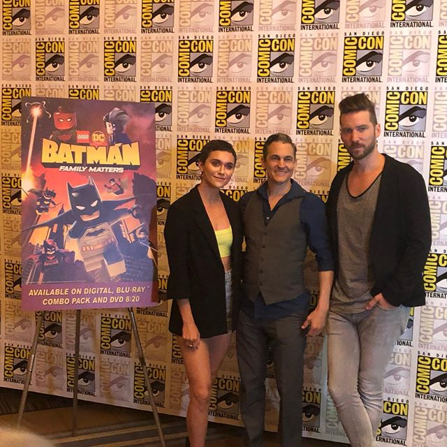 LEGO DC Batman Family Matters cast in the #SDCC press room @alysonstoner #JasonSpisak @officialtroybaker