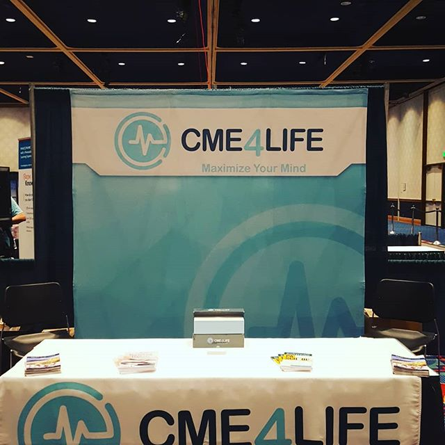 CME4Life Booth #1 @ PAEA.  Come see us.  We have Ken Ferrell with us!