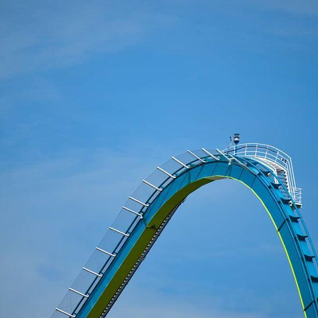 Celebrating my 100th post with my #1 coaster, Fury 325! · #fury325 #carowinds #gigacoaster #bandm #giga #bolligerandmabillard #ilovebmrides #drop #rollercoaster #fun #amusementpark #thrills #bankedturns #airtime #airtimehill #hivedive #90degrees #hypercoaster #afterburn #copperheadstrike #intimidator #furyfever #100thpost