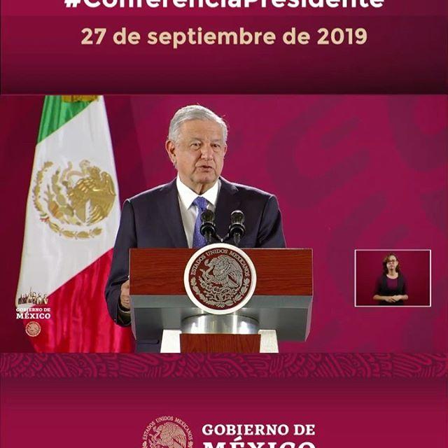 #ConferenciaPresidente | Viernes 27 de septiembre de 2019