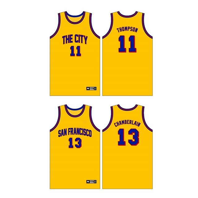"Ladies and gentlemen, the San Francisco @warriors ⚡ Meshed ""The City"" word play here for fun. The team is crossing the Bay Bridge this season playing in the SAN FRANCISCO throwbacks as an alternate. #Dubnation"