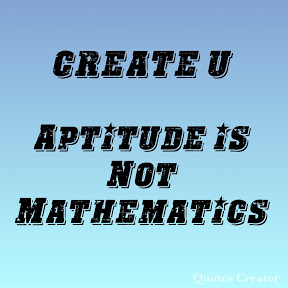 Aptitude is Not Mathematics