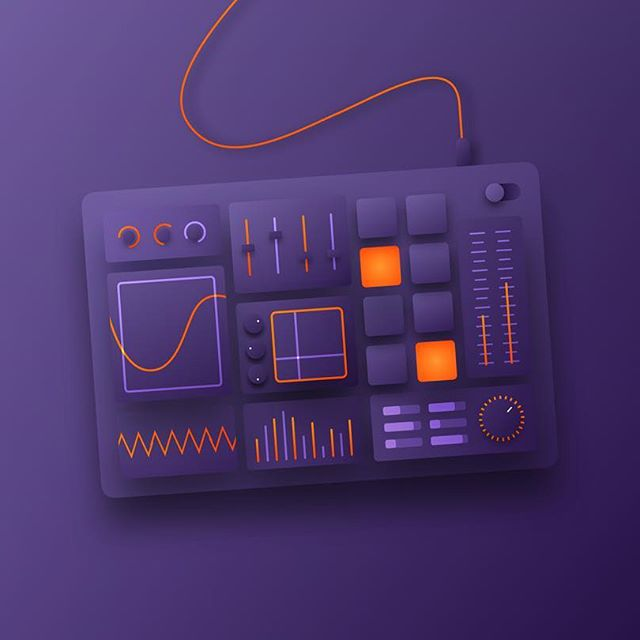 30 Days of illustration | #6 Tweak  I'm back! This is number six of my 30 day project. For this one I went back to my roots; producing music. I Love tweaking those knobs till the perfect sound comes out (and then ruining it by tweaking some more..) See you at number 7!  #daily #illustration #dribbble #synth #synthesizer #music #producer #edm #artwork #graphic #design #visual #cable #knob  #sketch #sketchapp #vst #sylenth1 #serum #purple #vector #behance #synthesizers