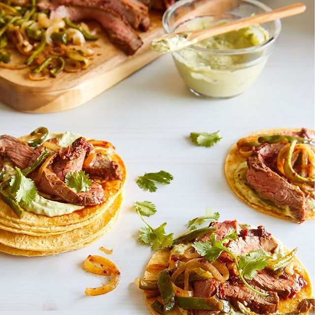 Day 3 of One-Pot Meals: Is it really Tuesday if there aren't tacos?! 🌮 Up your taco game by making them into a sheet pan meal and bake your steak over the veggies to let the marinade flavor them. Get our Flank Steak Tacos at pamperedchef.com #howipamperedchef