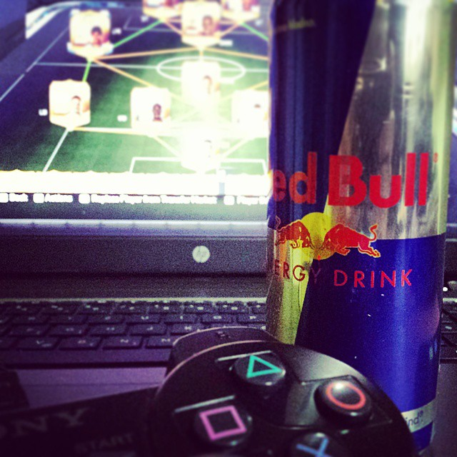 Entertaining night is ahead 💪✌ #redbull #energy #ps3 #ps4 #hp #fifa #fifa15 #bpl #goals #goal #aguero #remy #mcfc #city #chelsea #liverpool #squad #myteam #fifasquad #coins #gaming  #followme #f4f #like #instagram #mercurial #hipster #nike